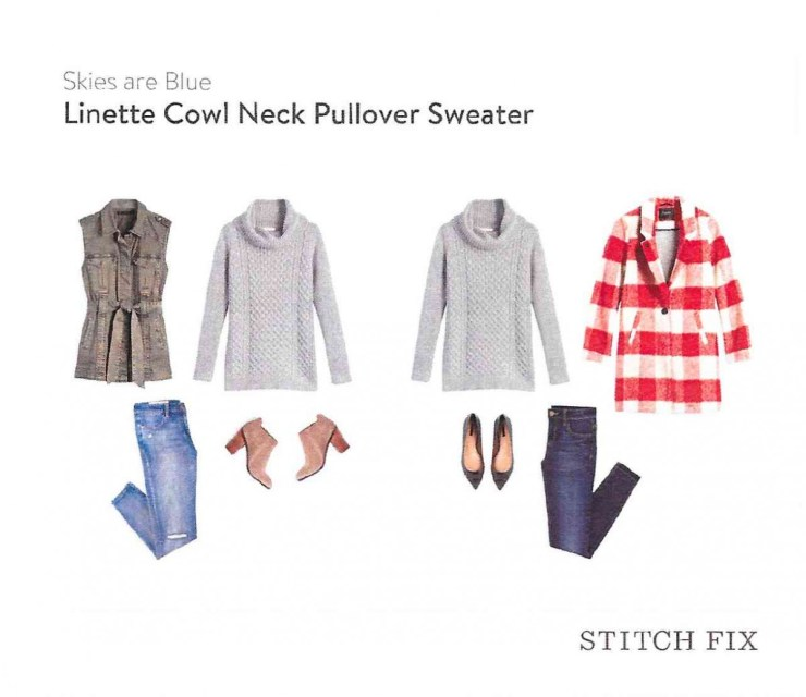 Linette Cowl Neck Pullover Sweater Skies Are Blue // Stitch Fix Review October 2016 // The Krystal Diaries