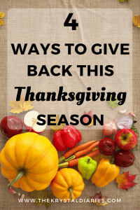 4 Ways to Give Back this Thanksgiving Season (plus a giveaway) // The Krystal Diaries