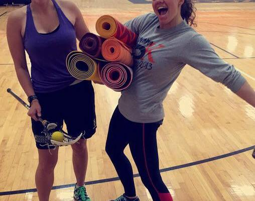 K-Team ready to exercise [Photo courtesy of Maddie Tracey '17 and Kaitlyn Perkins '17].