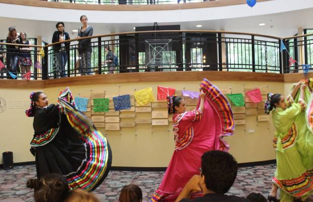 Folklorico dancers perform during LSO's First Friday. Photo courtesy of LSO.