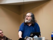 """Software freedom activist and programmer Dr. Richard Stallman holds """"Computing, Freedom, and Privacy"""" lecture (Andrew Parsons / The Index)."""