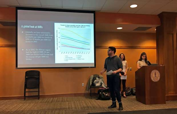 Francisco Lopez, K'19, discusses infant mortality rates