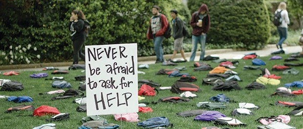 "The Active Minds ""Send Silence Packing"" campaign promotes suicide prevention on college campuses (Active Minds website)."