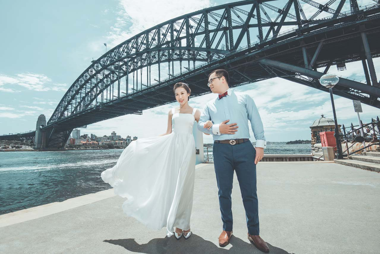 Sydney Harbour Bridge Pre-wedding Photography The Rocks Hickson Road