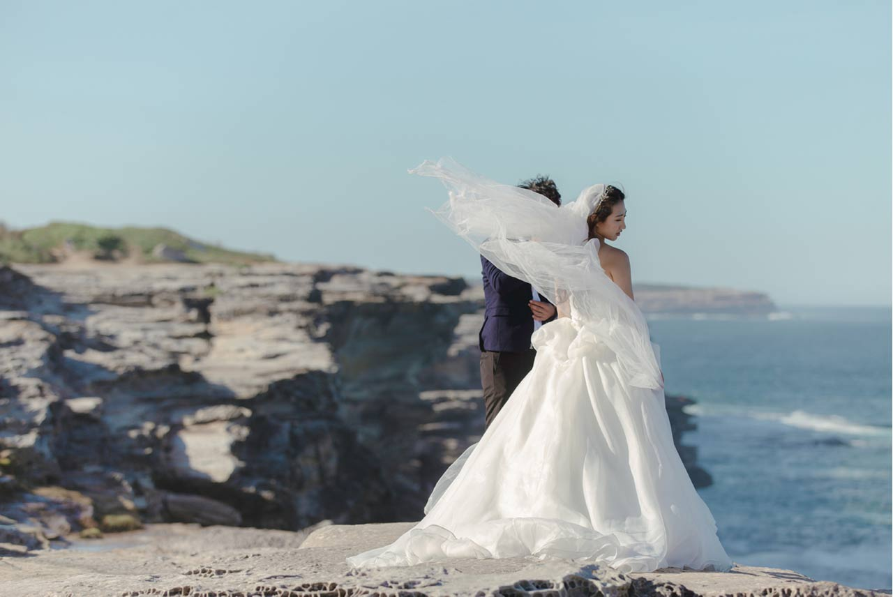 pre-wedding photoshoot La Perouse - The Lacy Day
