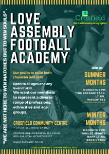 Football Academy @ Botanic Park Wavertree Liverpool