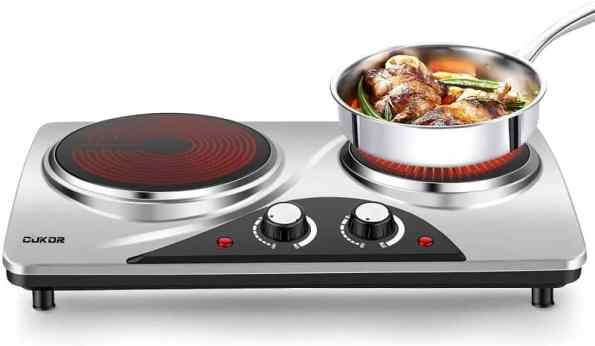 CUKOR Electric Hot Plate, Infrared Double Burner