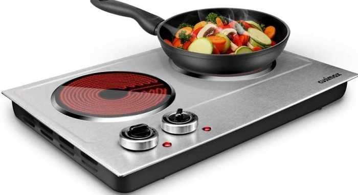 CUSIMAX 1800W Dual Control Infrared Cooktop