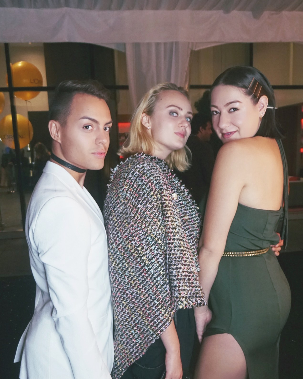 loreal gold glam toronto film festival 2016 party melina morry the lady-like leopard toronto fashion blogger atelier guarin