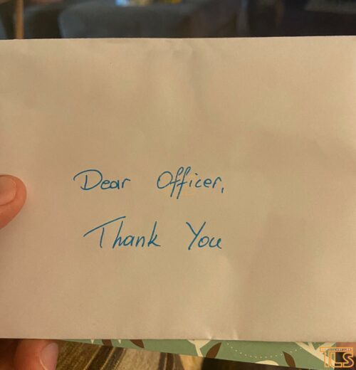 A Lakewood police officer found this letter in his mailbox. 1