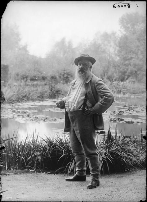 Claude Monet, Giverny, 1905. Photo by Jacques-Ernest Bulloz.