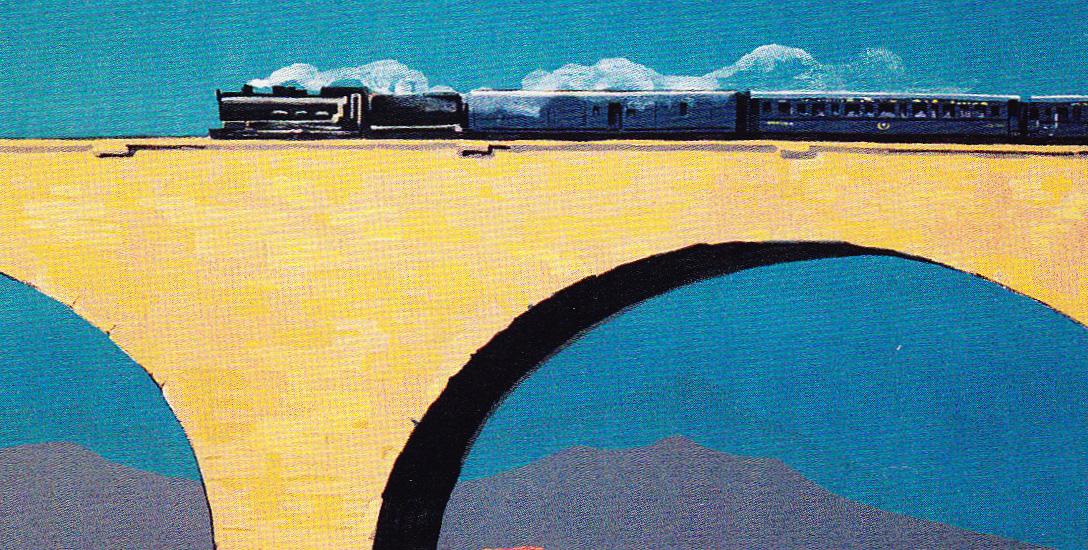 Le Train Bleu - Promotional poster, 1930s.