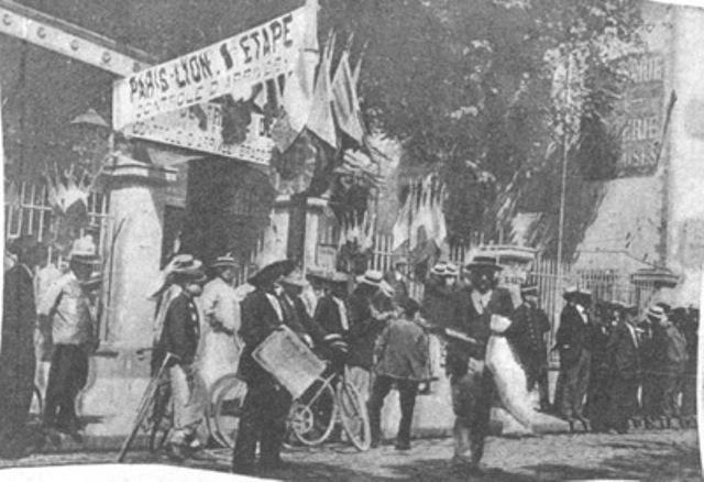 Stage 1 Finish Line, 1903 Tour de France, Lyon