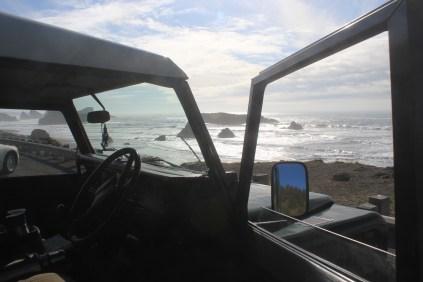 IMG_2553 western Oregon coast, the landrovers, 1984 land rover defender