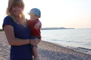 Mother and Son Raquel Jackson beach Lake Michigan LeelanauIMG_2160