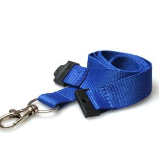 20mm Lanyard with Safety Breakaway & Trigger Clip (Royal Blue)