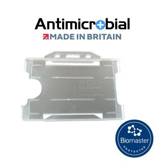 Antimicrobial Clear Rigid Plastic ID Holder