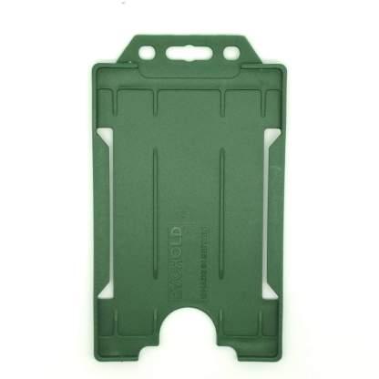 Sided Rigid Plastic ID Holder (Vertical / Portrait) (Dark Green)