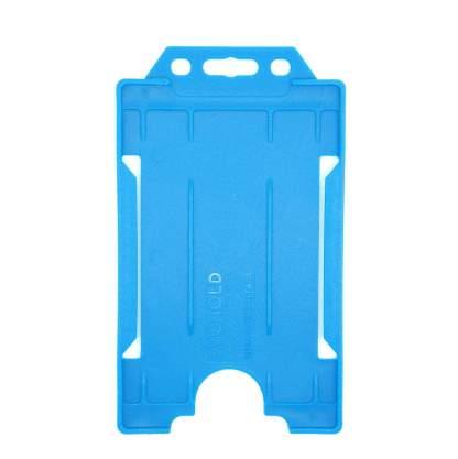 Sided Rigid Plastic ID Holder (Vertical / Portrait) (Light Blue)
