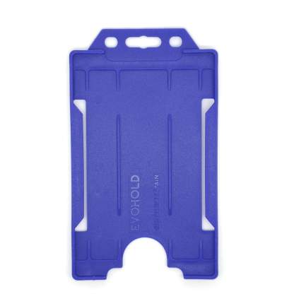 Sided Rigid Plastic ID Holder (Vertical / Portrait) (Navy Blue)