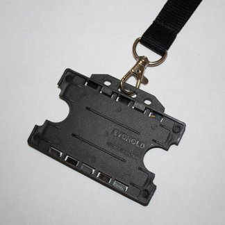 20mm Lanyard with Double Sided ID Holder (Black)