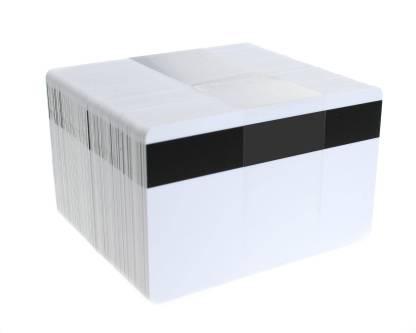 Blank White Magnetic Stripe ID Cards (Hi-Co 2750 oe)