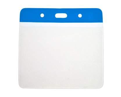 Blue Top Vinyl ID Card Holder - Landscape