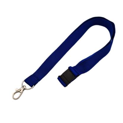 20mm Lanyard with Safety Breakaway & Trigger Clip (Navy Blue)
