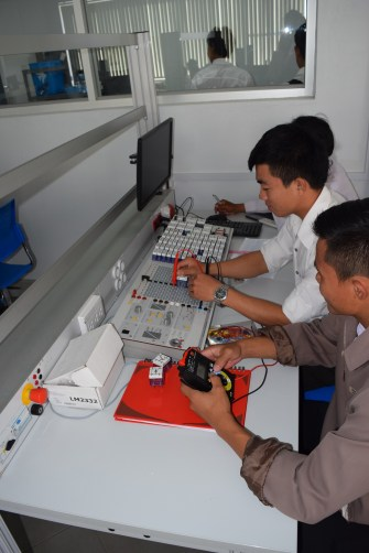 Students in the Electronics Department