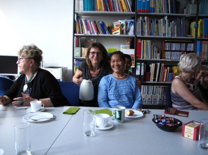 """Gerlinde Engel, Prof. Isabel Martin and Bouangeun """"Linda"""" Hanthavong"""