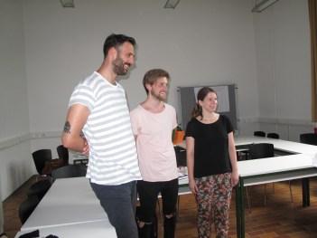 Team I: Tobias, Alessandro, Laura (missing: Franziska, Julia))