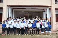 The 55 applicants from the secondary school in Ban Phang Heng after the interviews (18-19 August 2016)