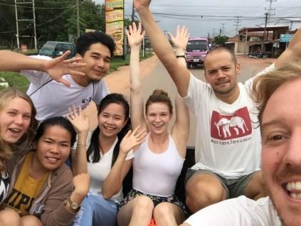 On our way to Lake Nam Ngum