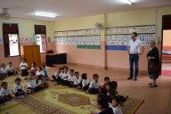 The new classroom in the primary school Phang Heng for the pre-school children