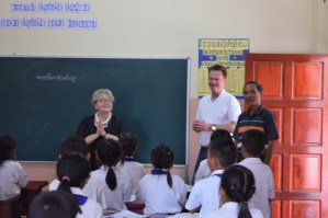 Gerlinde and Lars Engel (and Mr Khamsing) in class