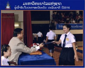 24 September 2016: Graduation Day at the National University of Laos
