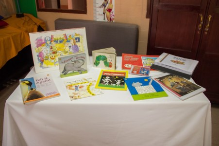 Picture books from the Lending Libraries at the two primary schools