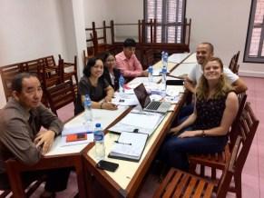 Our first meeting with the RIES (15 November 2016): Khamphanh Phimsipasom, Viengkham Phonpraseuth, Ammaly Alathep, Viengkham Singvongsa, David Schrep, Anika Broghammer