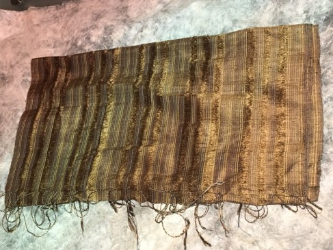 Prof. Martin's scarf, from the shop in Vientiane