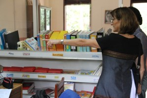 Prof. Martin shows the English Lending Library