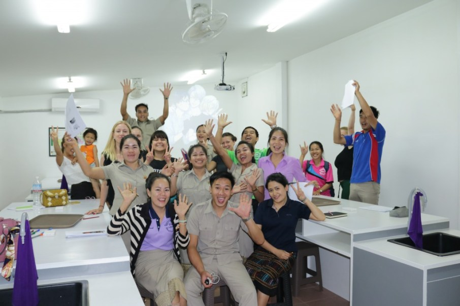 Happy faces after a successful workshop