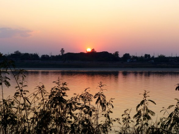 Sunset above the Mekong River