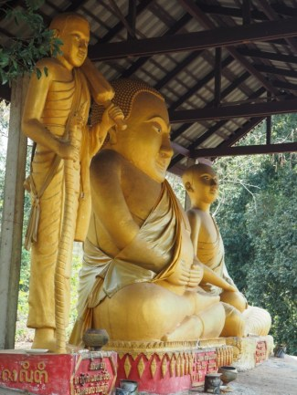 Some of the Buddha statues in the temple area