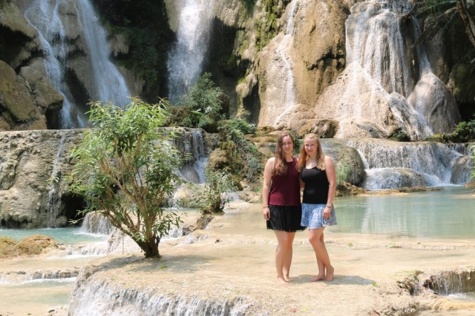 Rebecca and Veronika during their first stay in Laos
