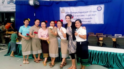 LGTC teachers Chanthavy, Keo, Hatsady, Lany, Ba, Ariane, Viengkhom