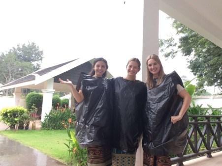 Lao-style rain gear
