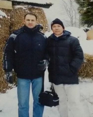 Mr Khamsavay with Ali