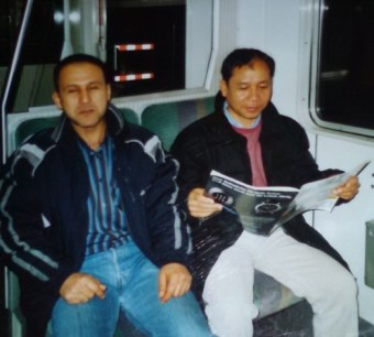 Mr Khamsavay and his friend Ali from Yemen on the train