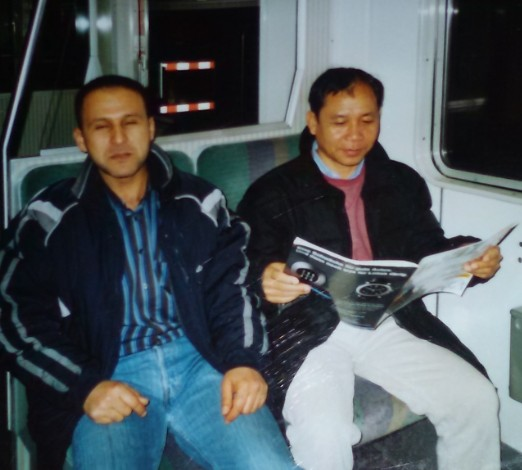Mr Khamsavay and his friend Ali from Yemen on the train