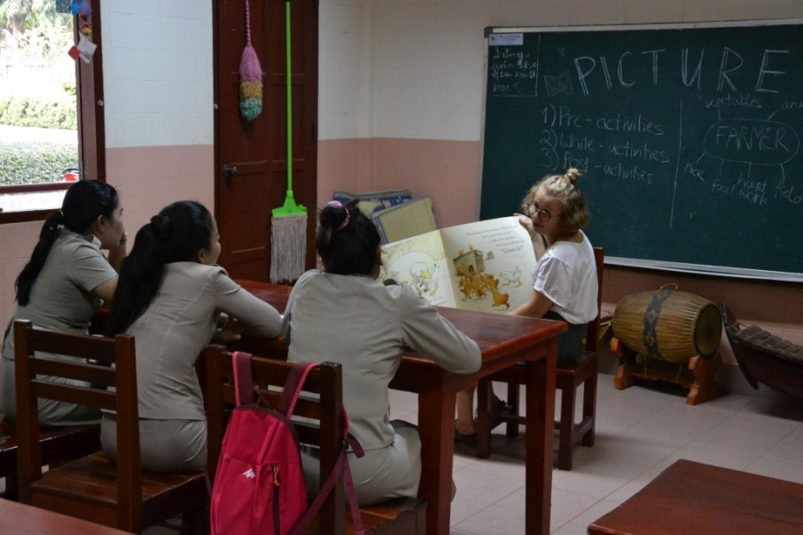 "Picture book workshop with Ms Bounpheng, Ms Mittaphone ""Mit"" & Ms Phovang ""Noy"""